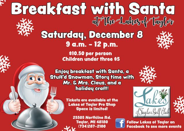 Breakfast with Santa Lakes