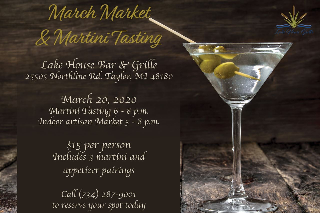 March Market and Martini Tasting at Lakes of Taylor