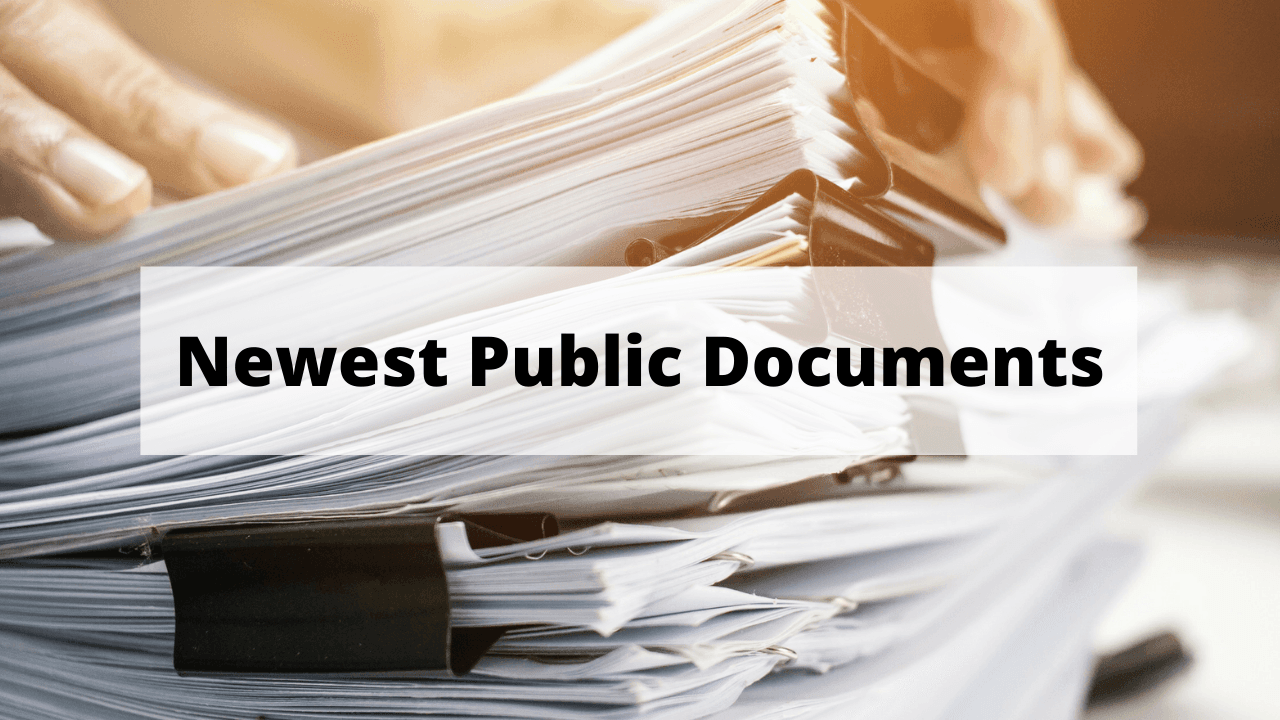 Newest Public Documents